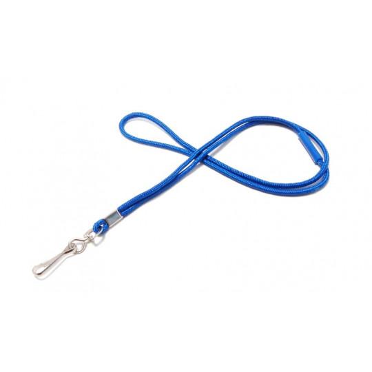 CORDON POLYESTER ROND 4mm + rupture sécuritaire - Bleu roi - Accueil