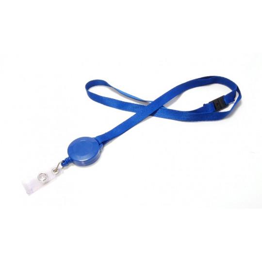 ZIPCORD : CORDON POLYESTER SATIN FIN UNI 10 mm AVEC SYSTEME DE RUPTURE SECURITAIRE ET ZIP PLASTIQUE - Bleu roi - Accueil
