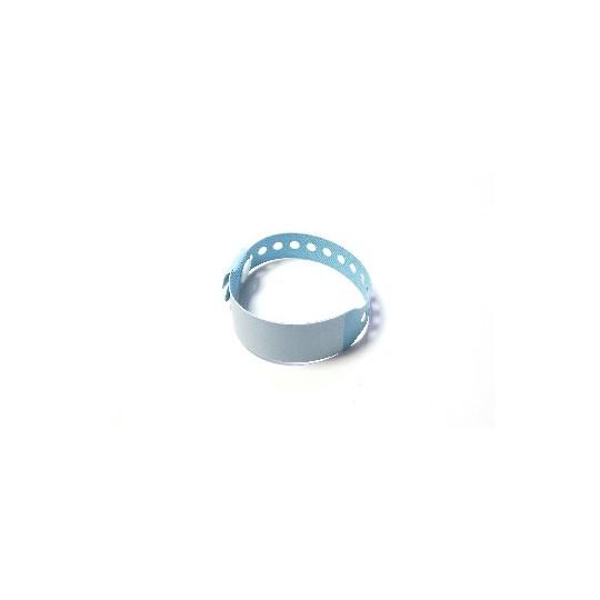 BRACELET HOPITAL EN VINYLE ULTRA SOUPLE AVEC PANNEAU D´ECRITURE - MODELE ENFANT - Bleu pâle - Accueil