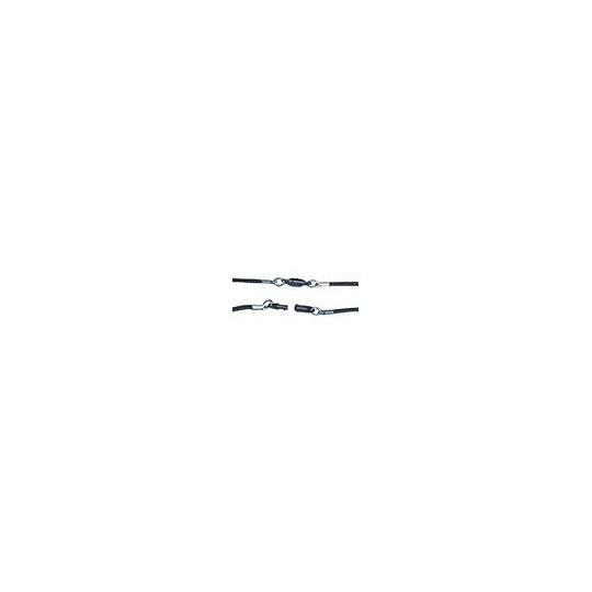 IDS 10.4 : CORDON ROND ACRYLIQUE TRESSE NOIR AVEC FERMOIR MIXTE SECURISE - Accueil