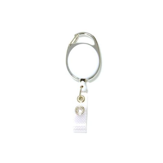 IDS 970 : ZIP RETRACTABLE AVEC ACCROCHE METAL NICKELE - Blanc opaque - Accueil