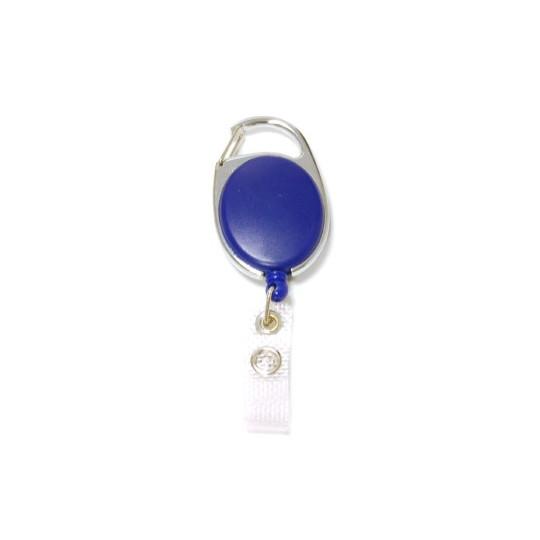 IDS 970 : ZIP RETRACTABLE AVEC ACCROCHE METAL NICKELE - Bleu opaque - Accueil