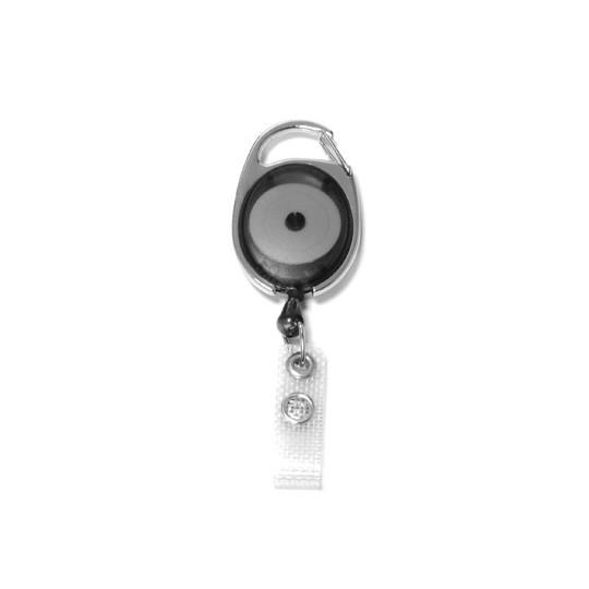 IDS 970 : ZIP RETRACTABLE AVEC ACCROCHE METAL NICKELE - Noir Translucide - Accueil