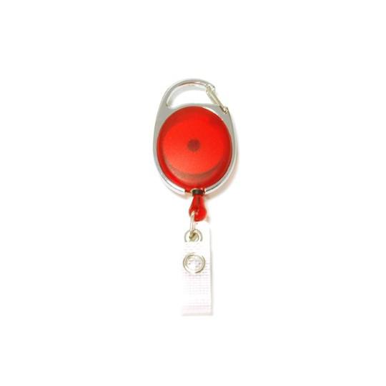 IDS 970 : ZIP RETRACTABLE AVEC ACCROCHE METAL NICKELE - Rouge Translucide - Accueil