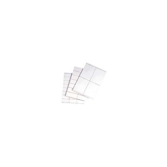 Planches A4 - Etiquettes 48,3 x 16,9 mm - Velin Blanc Adhésif Permanent