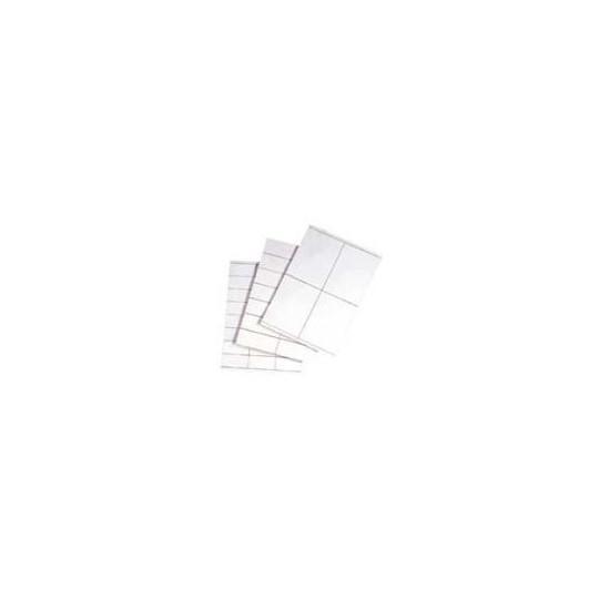 Planches A4 - Etiquettes 105 x 37 mm - Velin Blanc Adhésif Permanent