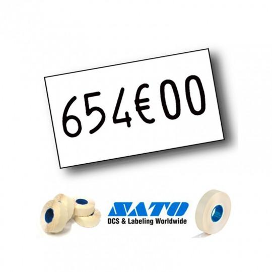 Etiquette pour pince SATO PB-1 - 18x10mm Réf: EPB1C-001