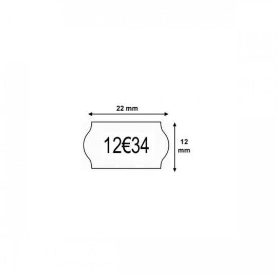 Etiquette pour pince KENDO 26 - 26x12mm