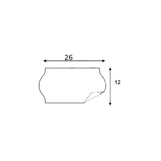 Etiquette pour pince KENDO 26 - 26x12mm - Réf: EP26C-001