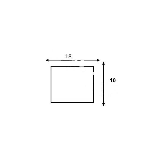 Etiquette pour pince SATO PB-1 - 18x10mm