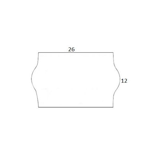 Etiquette pour Pince KENDO 26 - Amovible - 26x12mm - Réf: EP26C-041