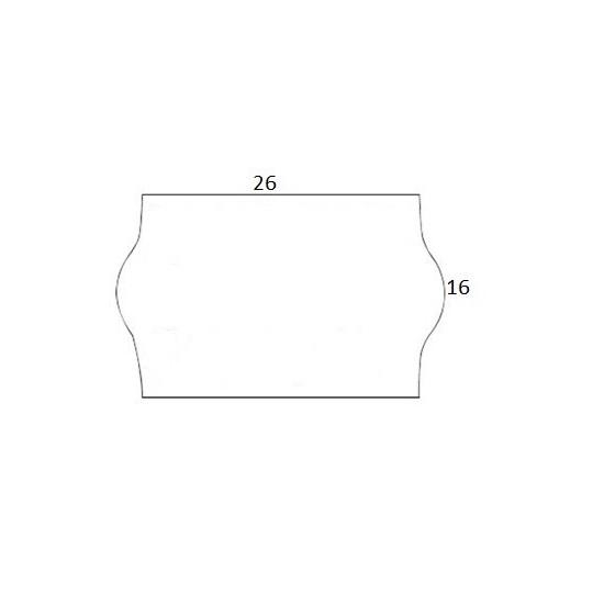 Etiquette pour Pince Sato JUDO 26 - 26x16mm - Réf: EPM16C-041