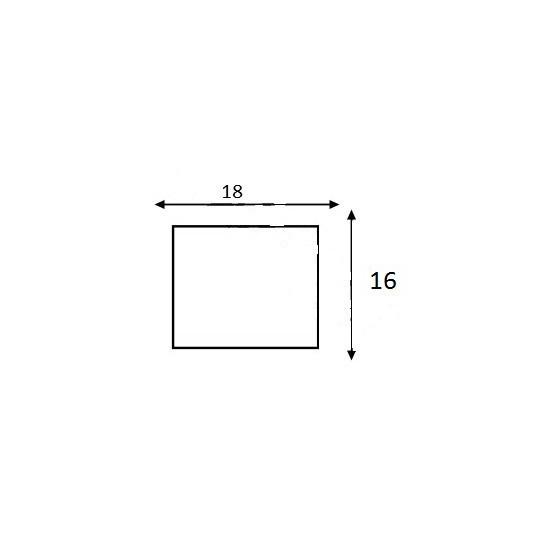 Etiquette pour Pince SATO PB DUO 16 - 18x16mm - Réf: EP216C-001
