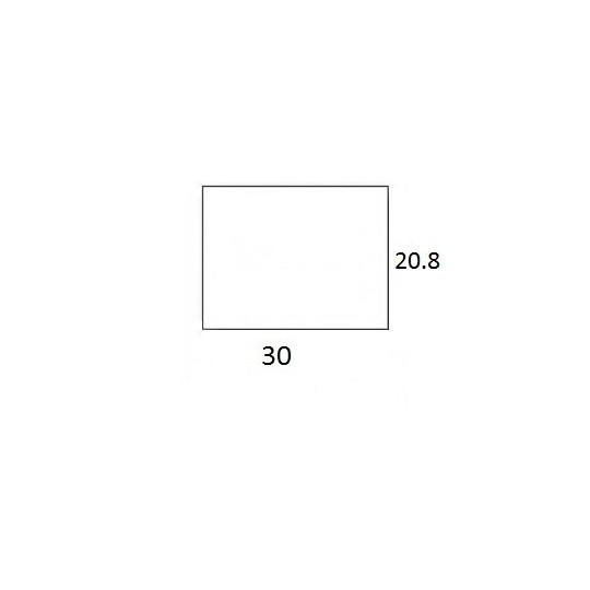 Etiquette Amovible pour Pince SATO PB3-208 - 30x20,8mm - Réf: EP208C-041