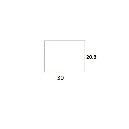 Etiquette Pour Pince SATO PB3-208 - 30x20,8mm - Réf: EP208C-071