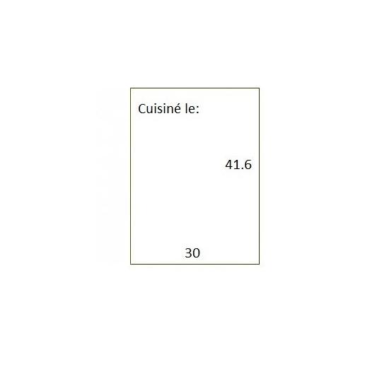 Etiquette Pour Pince SATO PB3-416 - 30x41,6mm - Réf: EP416IX-011