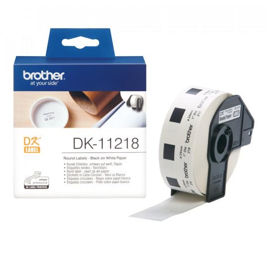 Ruban De 1000 Etiquettes Rondes Brother - Diamètre 24mm - Réf:DK-11218