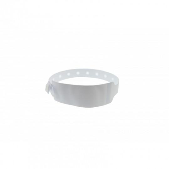 BRACELET HOPITAL EN VINYLE AVEC ETIQUETTE - MODELE ADULTE - Blanc Réf : 1474061