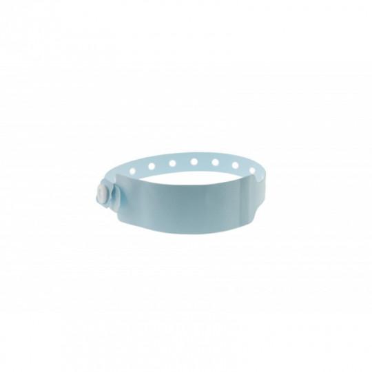 BRACELET HOPITAL EN VINYLE AVEC ETIQUETTE - MODELE ADULTE - Bleu Réf : 1474062