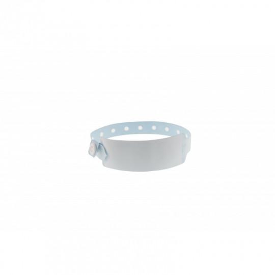 BRACELET HOPITAL EN VINYLE AVEC PANNEAU D´ECRITURE MODELE ADULTE - Bleu Réf :1474082