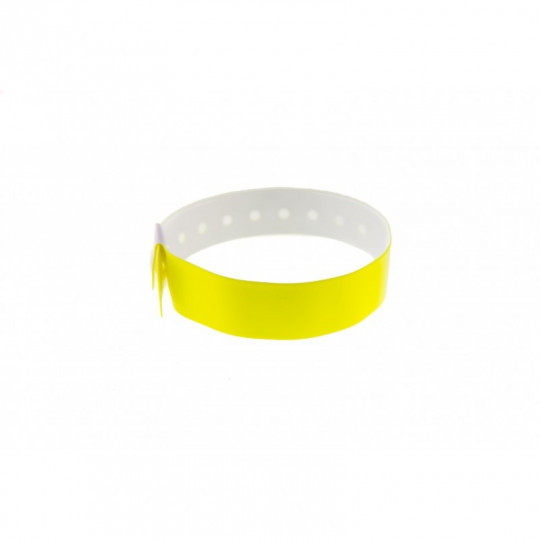 BRACELET VINYLE BRILLANT TYPE-L - Jaune citron Réf : 1474004