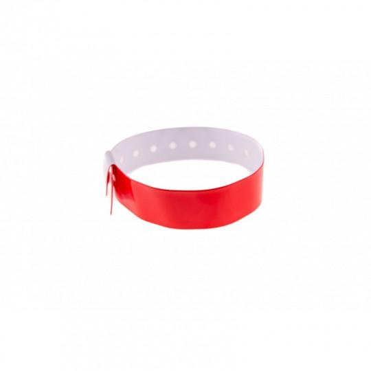 BRACELET VINYLE BRILLANT TYPE-L - Rouge vif Réf : 1474001