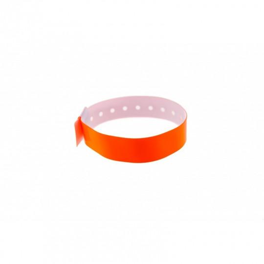 BRACELET VINYLE BRILLANT TYPE-L - Orange Réf : 1474002