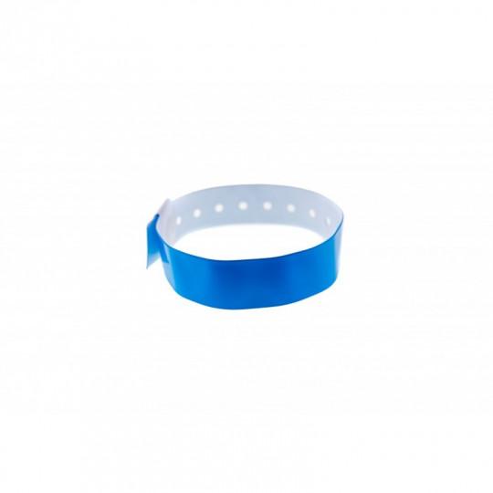 BRACELET VINYLE BRILLANT TYPE-L - Bleu roi Réf : 1474006