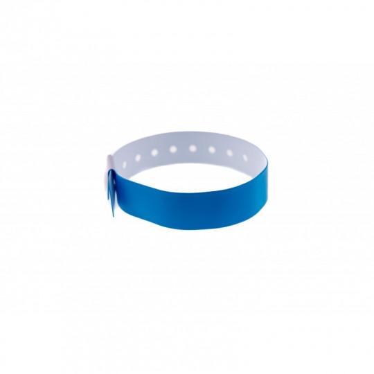 BRACELET VINYLE MAT TYPE-L - Bleu roi Réf : 1474012