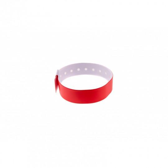 BRACELET VINYLE MAT TYPE-L - Rouge Réf : 1474014
