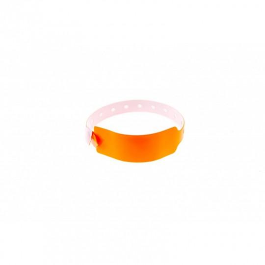 BRACELETS ÉVÉNEMENTIELS VINYLE MODÈLE EXTRA LARGE ASPECT BRILLANT - Orange Réf : 1474032