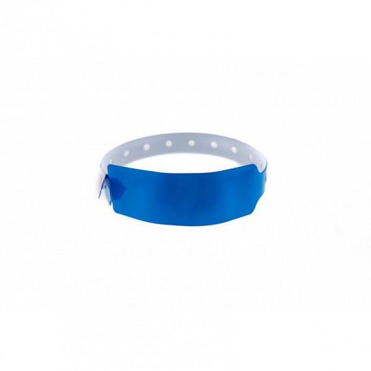 BRACELET VINYLE MODELE EXTRA LARGE ASPECT BRILLANT - Bleu roi