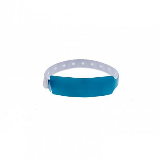 BRACELETS EVENEMENTIELS VINYLE MODELE EXTRA LARGE ASPECT MAT - Bleu ciel Réf : 1474041