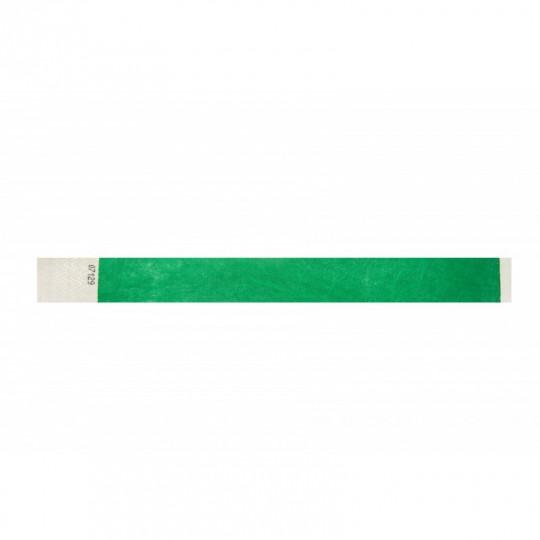 BRACELET TYVEK NUMEROTE LARGEUR 25 MM (EMBALLAGE PAR 100) - Vert Réf : 1474234