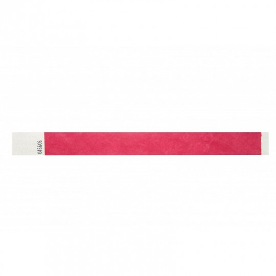 BRACELET TYVEK NUMEROTE LARGEUR 25 MM (EMBALLAGE PAR 100) - Rouge Réf : 1474241