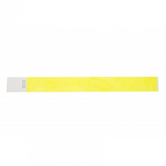 BRACELET TYVEK NUMEROTE LARGEUR 25 MM (EMBALLAGE PAR 100) - Jaune fluo Réf : 1474243