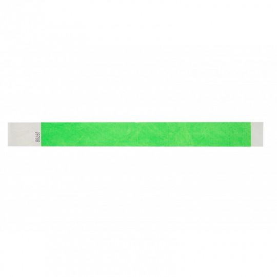BRACELET TYVEK NUMEROTE LARGEUR 25 MM (EMBALLAGE PAR 100) - Vert clair fluo Réf : 1474244