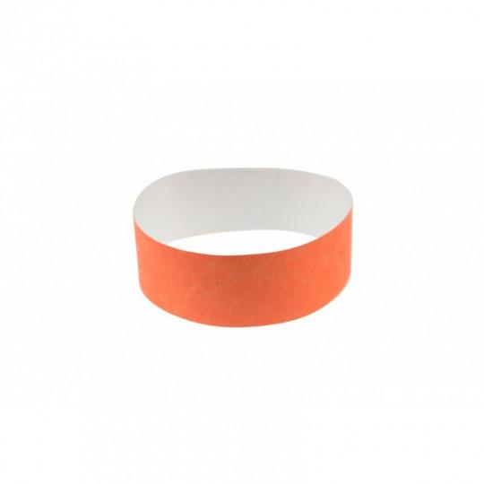BRACELET TYVEK indéchirable NUMEROTE LARGEUR 25 MM  - Orange fluo Réf : 1474246
