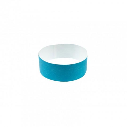 BRACELET indéchirable  TYVEK NUMEROTE LARGEUR 25 MM  - Bleu ciel fluo Réf : 1474247