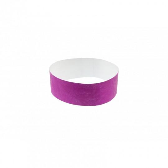 BRACELET indéchirable TYVEK NUMEROTE LARGEUR 25 MM - Violet Réf : 1474249