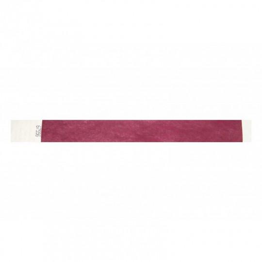 BRACELET indéchirable TYVEK NUMEROTE LARGEUR 25 MM  - Bordeaux Réf : 1474238