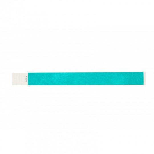 BRACELET indéchirable TYVEK NUMEROTE LARGEUR 25 MM  - Bleu vert Réf : 1474242