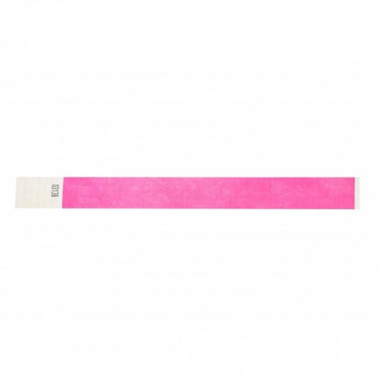 BRACELET indéchirable TYVEK NUMEROTE LARGEUR 25 MM  - Rose fluo Réf : 1474245