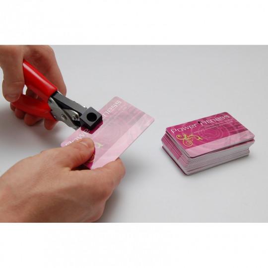 PINCE DE PERFORATION POUR CARTES PLASTIQUE - UTILISATION INTENSIVE - Perforation ronde (5 mm) Réf : 1230110