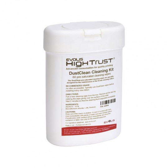 Kit de nettoyage EVOLIS en tissus - Réf : A5004