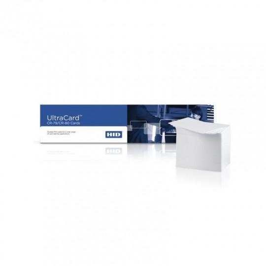 Carte PVC HID/FARGO blanche Format CR80 Lot de 500 Réf : 081754