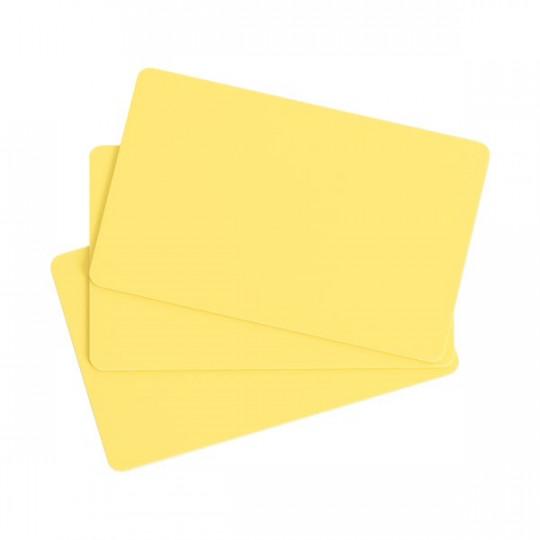 Carte PVC EVOLIS Jaune Format CR80 Lot de 100 - Réf : C4101