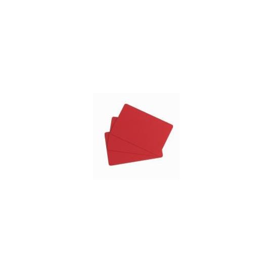 Carte PVC EVOLIS Rouge Format CR80 Lot de 100 - Réf : C4301