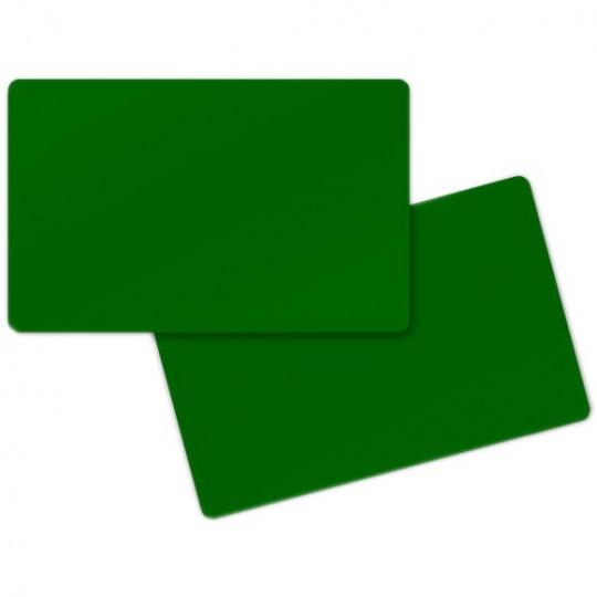 Carte PVC ZEBRA Verte Format CR80 Lot de 500 - Réf : 104523-132