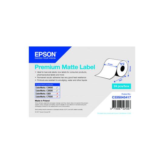 Etiquette Jet D'encre EPSON - 51x35mm - Réf: C33S045417